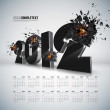 Vector 2012 Crushing with Calendar — Stock Vector