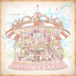 Hand Drawn Merry-Go-Round - Imagen vectorial