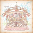 Hand Drawn Merry-Go-Round — Vector de stock #25064077