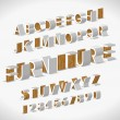 Vector Alphabet Shaped Furnitures - Stok Vektör
