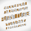 Vector Alphabet Shaped Furnitures - Stockvektor