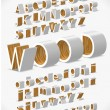 Vector Alphabet Shaped Furnitures — Vettoriali Stock