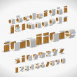 Vector Alphabet Shaped Furnitures - Vektorgrafik