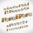 Vector Alphabet Shaped Furnitures - Stockvectorbeeld