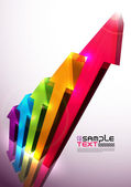 Colorful Vector 3D Histogram — Stock Vector