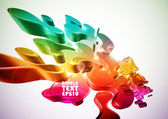 Colorful Abstract Digital Art — Stock Vector