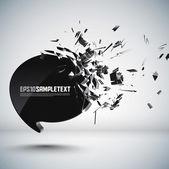 Speech Bubble Crushing — Stock Vector