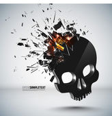 Vector Skull Crushing — Stock Vector