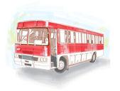 Vektör retro otobüs — Stok Vektör