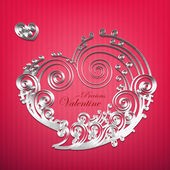Vector Paper Crafted Love Bubble — Stock Vector