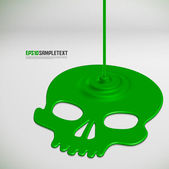 Vector Poisonous Liquid Dripping Skull — Stock vektor