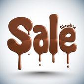 Čokoládové kape - prodej — Stock vektor