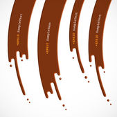 Vector Chocolate Dripping, Flasher Design — Stockvector