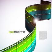 Multicolor Vector Film Stripes — Stock Vector