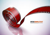 Vector Red Film Strip — Stock Vector