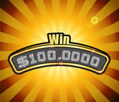 Vector Millionaire Contest Masthead — Stock Vector