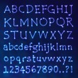 Vector de stock : Handwritten Vector Neon Light Alphabets