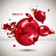 Vector Red Cells Crushing - Stock Vector