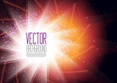 Vector Abstract Background With Lights — Stock Vector