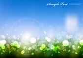 Vector Blurry Light On Greenery — Stock Vector