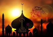 Islamic Illustration for Muslim Celebration — Stock Vector