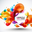 Colorful Bubbles Design — Imagen vectorial