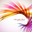 Colorful Feather Wave — Stock Vector