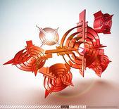 3D Vector Bullseye — Stock Vector