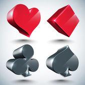 Vector 3D Pokers — Stock Vector