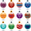 Set of christmas balls — Imagen vectorial