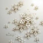 3D Snowflakes Design — Stock Vector