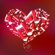 Love Song Heart — Stockvectorbeeld