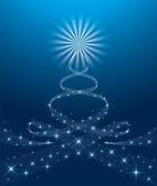 Christmas yule tree — Stock Vector