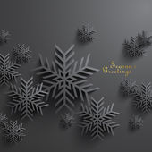 3D Snowflakes Design — Stock Vector