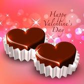 святого валентина шоколад — Cтоковый вектор