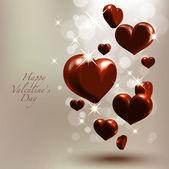Corazones de chocolate de san valentín — Vector de stock