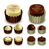 Valentine's Chocolates — Stock Vector
