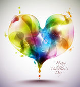 Heart Shape Bubbles — Stock Vector