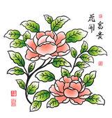 Chinese Peony — Vettoriale Stock