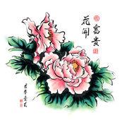 Peônia chinesa — Vetor de Stock