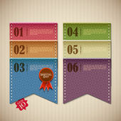 Retro Banner for Scrapbook — Stock Vector