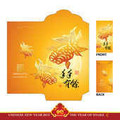 Chinese New Year Golden Packet — Stock Vector