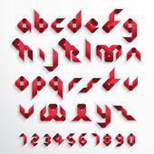Ribbon Font Set — Stock Vector