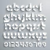 Paper Graphic Alphabet — Stock Vector