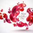 Valentine's Day Card Element — Stock Vector