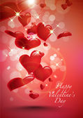 Vector Valentine's Day Card — Vector de stock