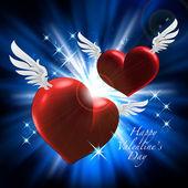 Cupids seviyorum. sevgililer günü mutlu — Stok Vektör