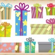 Stock Vector: Vector Gift Box with Tag