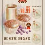 Bakery Advertisement Design Template — Stock Vector #42848217