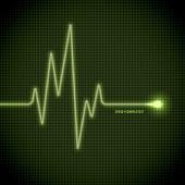 Eletrocardiograma de vetor — Vetorial Stock